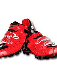 Tênis de Corrida Sapatos para Ciclismo Unisexo Anti-desgaste Respirável Ao ar Livre Bicicleta De Montanha Couro Ecológico Malha Respirável