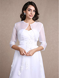 Organza Wedding Party Evening Casual Women's Wrap With Draped Shrugs