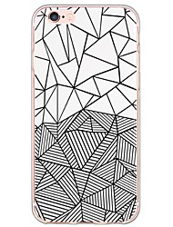 cheap -Geometric Pattern TPU Ultra-thin Translucent Soft Back Cover for Apple iPhone 6s Plus/6 Plus/ 6s/6/ SE/5s/5