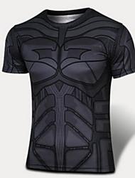 cheap -Men's Running T-Shirt Short Sleeves Comfortable Sunscreen Top for Exercise & Fitness Running Cotton Chinlon Slim White Black Yellow L XL