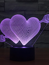 cheap -Arrow Heart Touch Dimming 3D LED Night Light 7Colorful Decoration Atmosphere Lamp Novelty Lighting Light