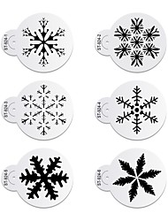 cheap -6pcs/lots Christmas Different Snow Design Cookies Stencil  Cake Decorating Tools ST-924