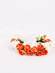 Bouquet sposa Legato Rose Braccialetto floreale Matrimonio Partito / sera Poliestere Chiffon Schiuma 10 cm ca.