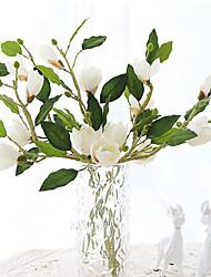 1 Podružnica Svila Magnolija Cvjeće za stol Umjetna Cvijeće