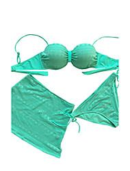 cheap -Women's Three Pieces Lace Swimsuit Swimdress bikini