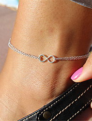 cheap -Infinity Anklet - Women's Silver Unique Design Fashion Jewelry Infinity Alloy Anklet For Christmas Gifts Party Daily Casual Sports Beach