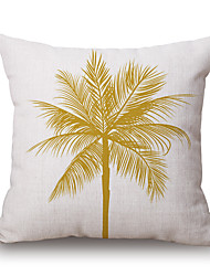 cheap -Cotton/Linen Pillow Cover,Novelty / Textured / Graphic Prints Accent/Decorative / Modern/Contemporary / Casual