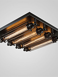 Max 60W Flush Mount ,T30 Bulb Vintage Painting Feature for Style Metal Living Room / Bedroom / Dining Room / Kitchen
