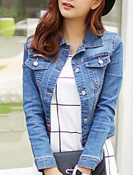 cheap -Women's Casual/Daily Casual Spring / Fall Denim Jackets
