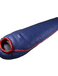 Schlafsack Mumienschlafsack Einzelbett(150 x 200 cm) -5 Gänsedaunen80 Wandern Camping warm halten Videokompression