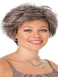 Недорогие -Искусственные волосы парики Кудрявый Без шапочки-основы Карнавальный парик Парик для Хэллоуина Черный парик Короткие Серый