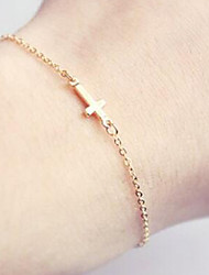 cheap -Charm Bracelets/Chain Bracelet,Gold Bracelet Sideways Cross Bracelet Friendship Bracelet For Women 1 pcs Christmas Gifts