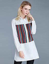 cheap -Women's Plus Size / Daily Street chic Spring / Fall Shirt