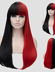 cheap -Synthetic Wig Red Women's Capless Capless Wig Long Synthetic Hair