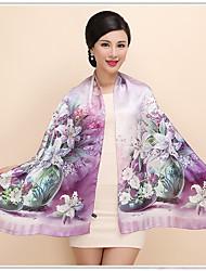 cheap -Women's Silk Rectangle,Vintage Casual All Seasons
