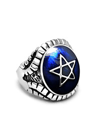 cheap -Men's Statement Ring - Titanium Steel Star of David Statement, Personalized, Vintage 7 / 8 / 9 Purple / Red / Blue For Christmas Gifts / Casual