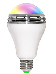 5W E26/E27 Ampoules LED Intelligentes B 10 diodes électroluminescentes SMD 5730 200-250lm RVB Bluetooth Wi-Fi Audio-activé AC 85-265