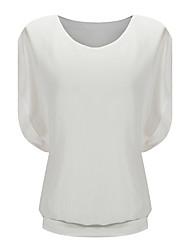 cheap -Women's Loose Casual Short Sleeve Chiffon Top T-shirt Blouse