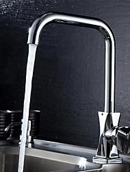 baratos Torneiras Cozinha-Moderna bico padrão Montagem em Plataforma Rotativo Válvula Cerâmica Monocomando e Uma Abertura Cromado, Torneira de Cozinha