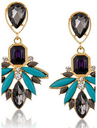 cheap -Black Color New Brand Design Women's Personality Crystal Rhinestone Dangle Earrings Vintage Jewelry Accessories