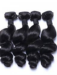 povoljno -Ljudska kosa Malezijska kosa Ljudske kose plete Valovita kosa Ekstenzije za kosu 4 komada Crna
