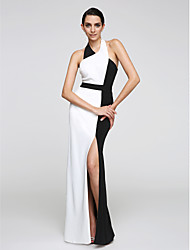 cheap -Sheath / Column Halter Floor Length Chiffon Prom / Formal Evening Dress with Split Front by TS Couture®
