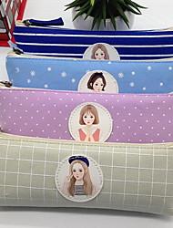 Южнокорейские канцелярские треугольной формы пенал холст косметический мешок хранения мешок для женского пола