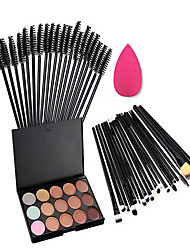 Contour Brush / Lip Brush / Brow Brush / Liquid Eyeliner Brush / Eyelash Comb (Round) /