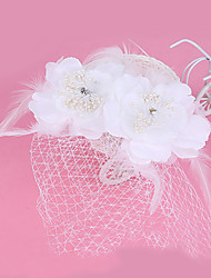 Tulle Feather Fabric Fascinators Headpiece