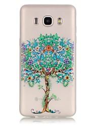 Недорогие -Кейс для Назначение SSamsung Galaxy Кейс для  Samsung Galaxy Сияние в темноте / Прозрачный Кейс на заднюю панель дерево Мягкий ТПУ для J7 (2016) / J5 (2016) / J3