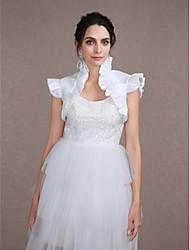Senza maniche Taffetà Matrimonio Da sera Wraps Wedding With Con balze Coprispalle