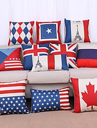 Недорогие -1шт европейский стиль национальный флаг ретро подушка покрытие