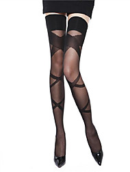 cheap -Women silk stockings anti-slip  stockings over knee socks sexy black