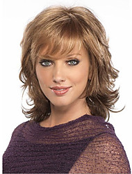 Short Curly Dark Brown Hair Wig Women Cosplay Wigs Natural African and American Fiber Wig