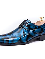 Homme Chaussures Cuir Printemps Eté Automne Hiver Confort Oxfords Marche Pour Décontracté Soirée & Evénement Gris Marron Bleu