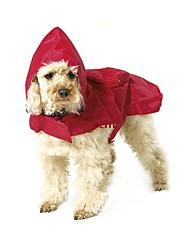 abordables -Gato Perro Impermeable Ropa para Perro A Prueba de Agua Sólido Negro Rojo Azul Disfraz Para mascotas