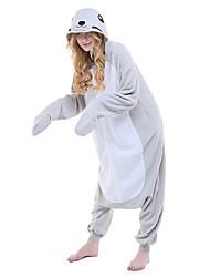 Kigurumi plišana pidžama Seal Onesie pidžama Kostim Flis Sive boje Cosplay Za Odrasli Zivotinja Odjeća Za Apavanje Crtani film Noć