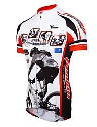cheap -TASDAN Men's Short Sleeve Cycling Jersey Bike Jersey, Quick Dry, Breathable, Sweat-wicking