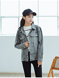 cheap -Women's Casual/Daily Casual Fall Denim Jackets
