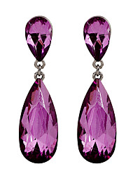 cheap -Fine Jewelry Korean Fashion Charms Purple Crystal Earring