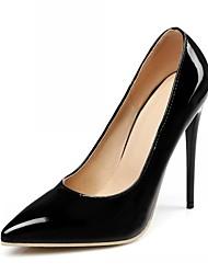Недорогие -Жен. Обувь Лакированная кожа Микроволокно Весна Лето Удобная обувь Босоножки Обувь на каблуках На шпильке Заостренный носок Стразы Бант