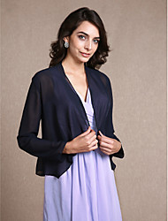 Long Sleeves Chiffon Party Evening Women's Wrap With Scales Coats / Jackets