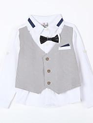 cheap -Daily Striped Suit & Blazer, Cotton Fall Gray Light Blue