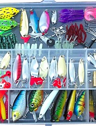 Fishing Lures Lots for Freshwater Saltwater ,Bass Trout Superfrog Colorful Crankbait Kit Sets (Pack of 131pcs)