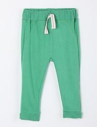 abordables -Pantalones Diario Un Color Algodón Otoño Verde
