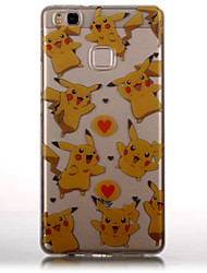 cheap -TPU Material + IMD Technology Pikachu Pattern Painted Relief Phone Case for Huawei P9 Lite/P9/P8 Lite