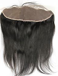 8-20 inch Nero Cucitura a mano Ondulato naturale Capelli Chiusura Castano medio Uncinetto svizzero 70g-150g grammo Media Cap Size