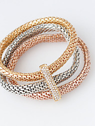 cheap -Wrap Bracelets 1set,Golden / Rose / Silver Bracelet Fashionable Circle 514 Alloy Jewellery