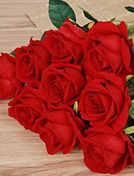 billige -Kunstige blomster 1 Afdeling pastorale stil Roser Bordblomst