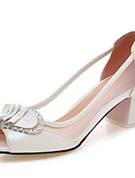 Women's Sandals Spring / Summer / Fall Peep Toe / Wedding / Dress / Casual Chunky HeelSparkling Glitter / Stitching